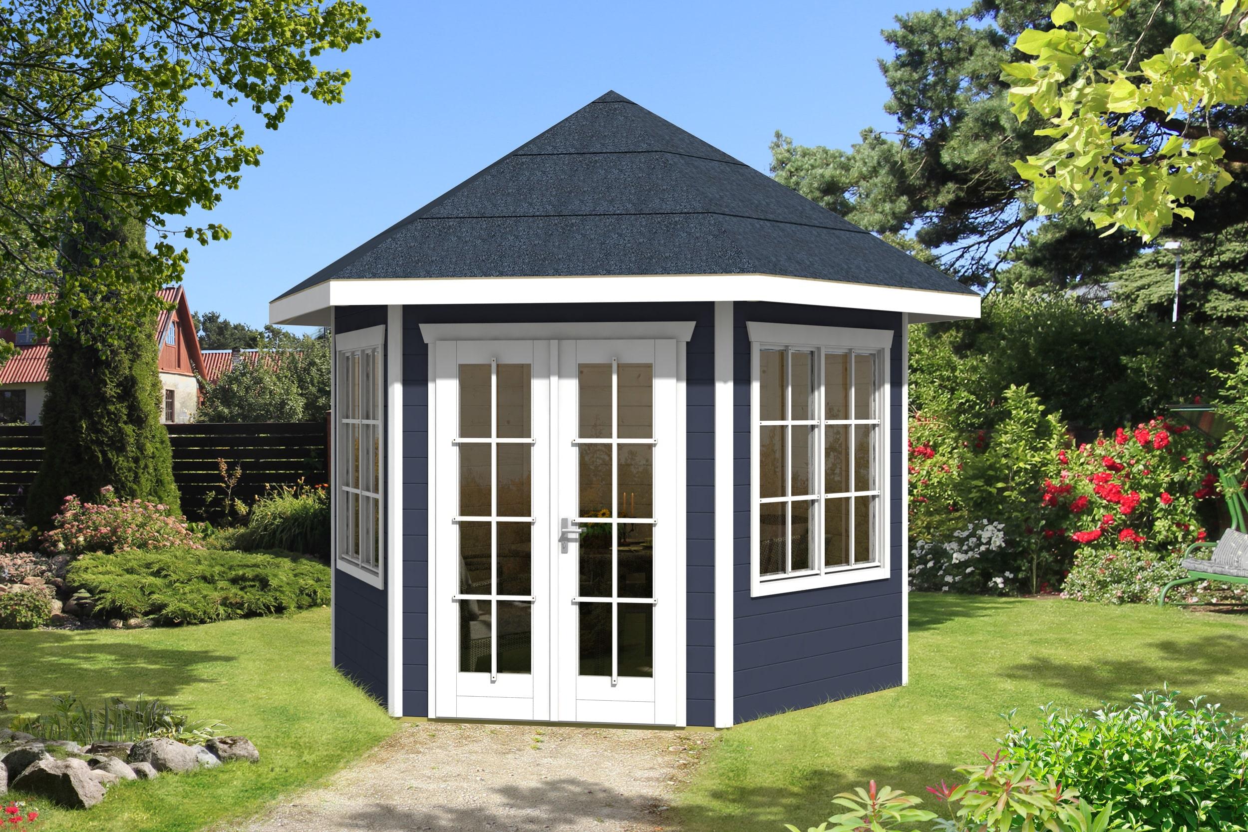 Færdig malet pavillon kan købes hos www.sølundhuse.dk