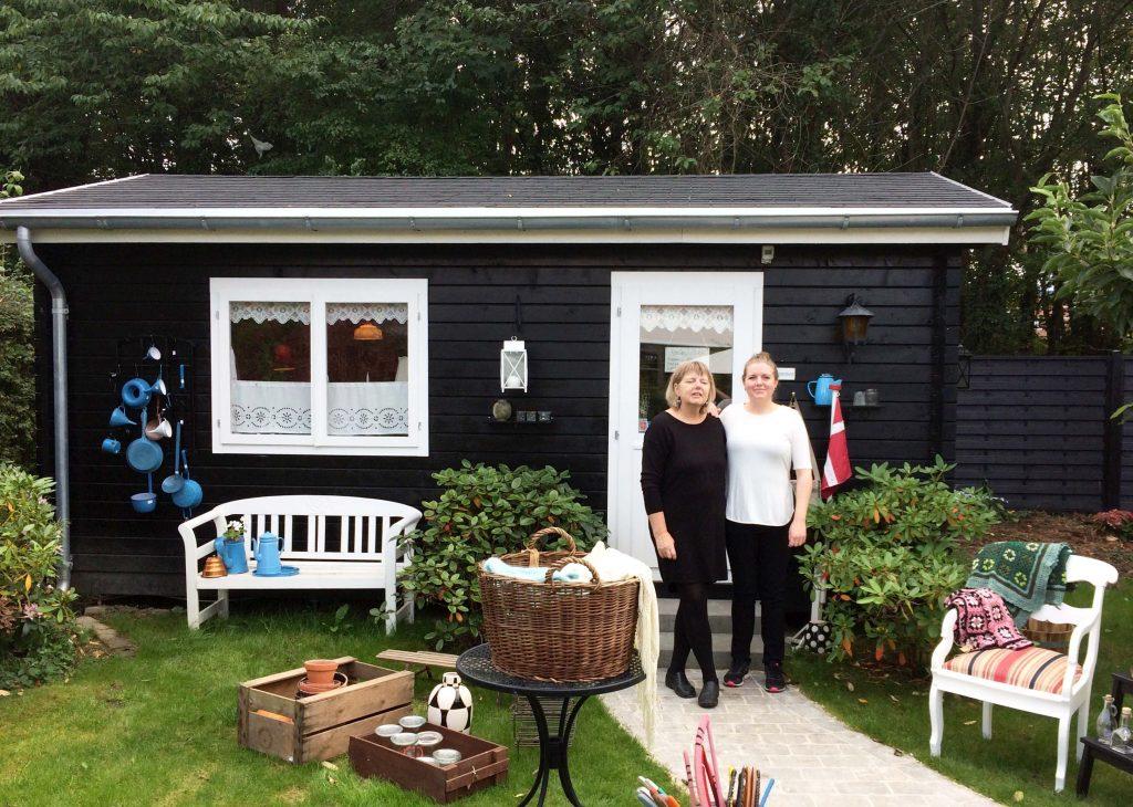 Havehus forvandlet til butik, billedet er indsendt af vores kunder og kan findes på www.sølundhuse.dk