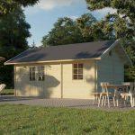 havehus i træ med hems fra Sølundhuse.dk og leveres gratis som komplet samlesæt i træ