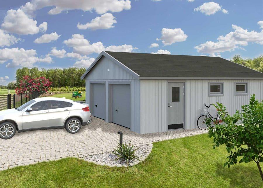 garage til to biler fra sølundhuse.dk