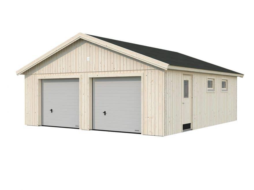 stor dobbelt garage fra sølund huse