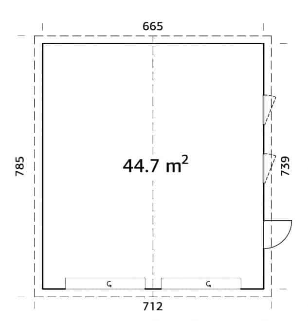 garage fra sølund huse måltegning