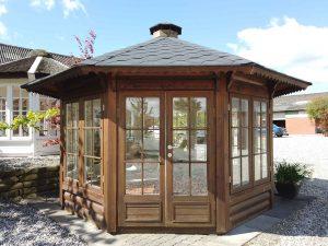 10m2 træpavillon fra udstillingen hos www.sølundhuse.dk