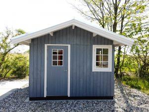 Tanja 10m2 havehus kan ses i udstillingen hos Sølund Huse
