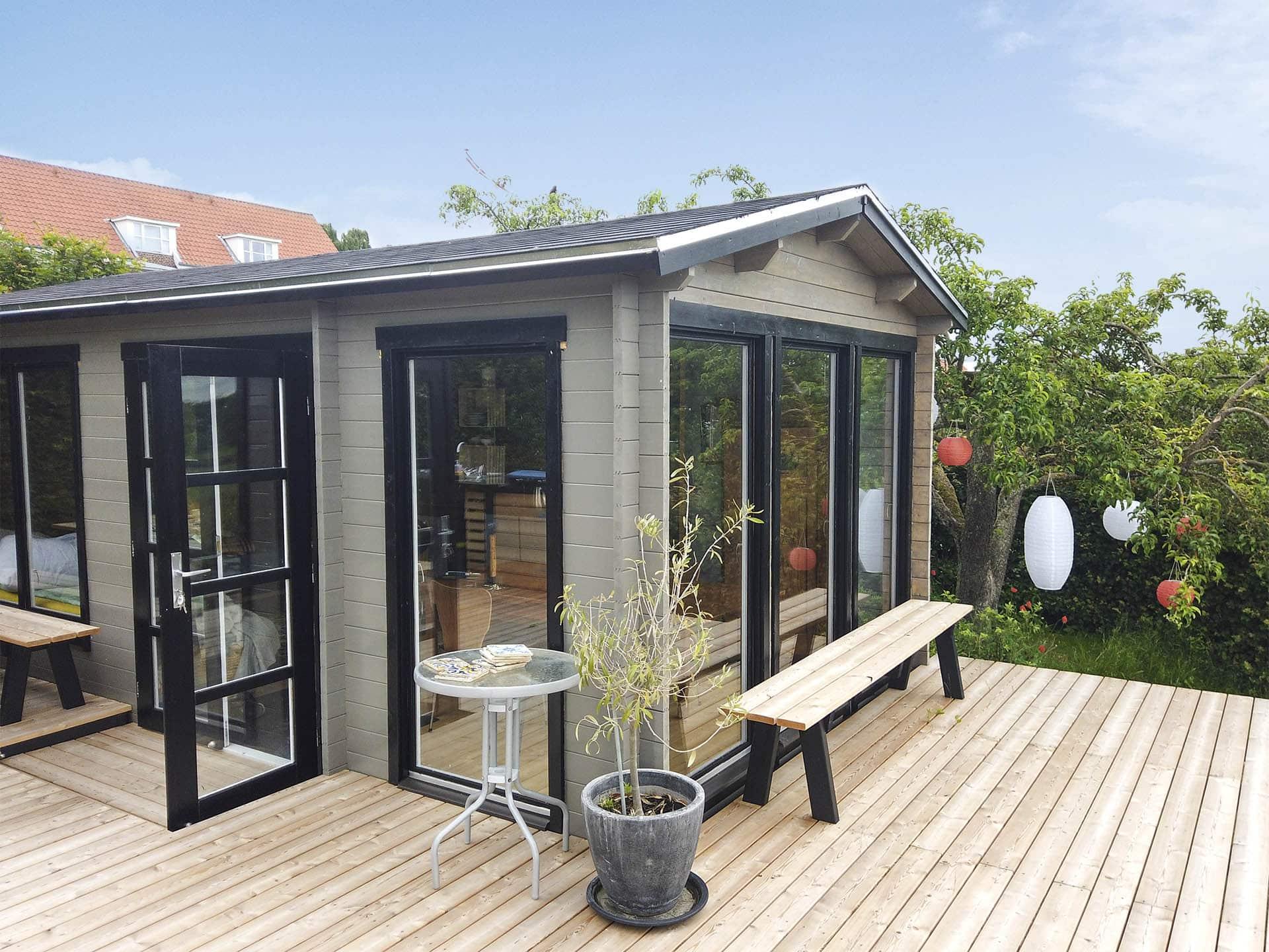 Luna kolonihavehus med orangeri til byg selv fra www.sølundhuse.dk b