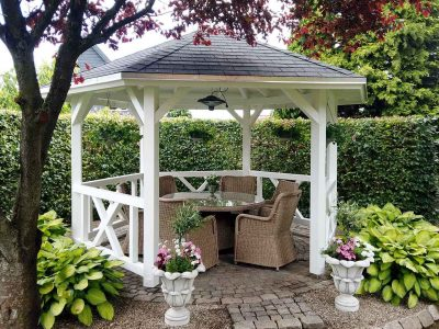 pavillon i egen park