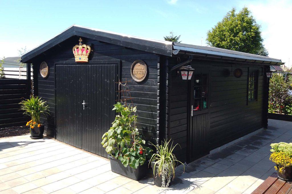 Garage 470 som gør det selv værksted fra solundhuse.dk