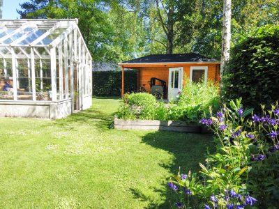samle selv pavillon med halvtag i træ fra www.sølundhuse.dk